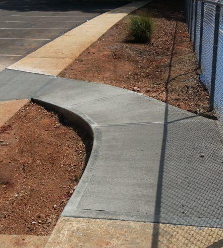 concrete sidewalk install raleigh